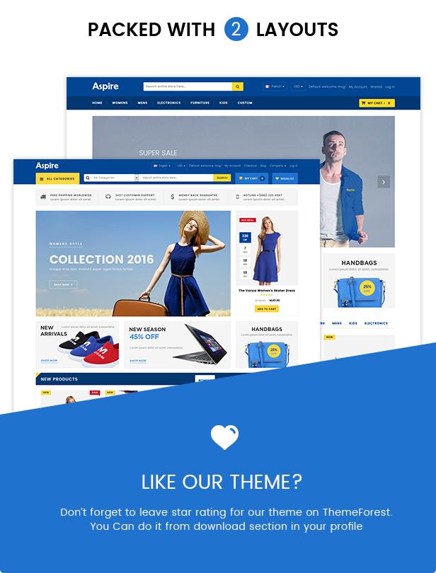 Electronic shop opencart
