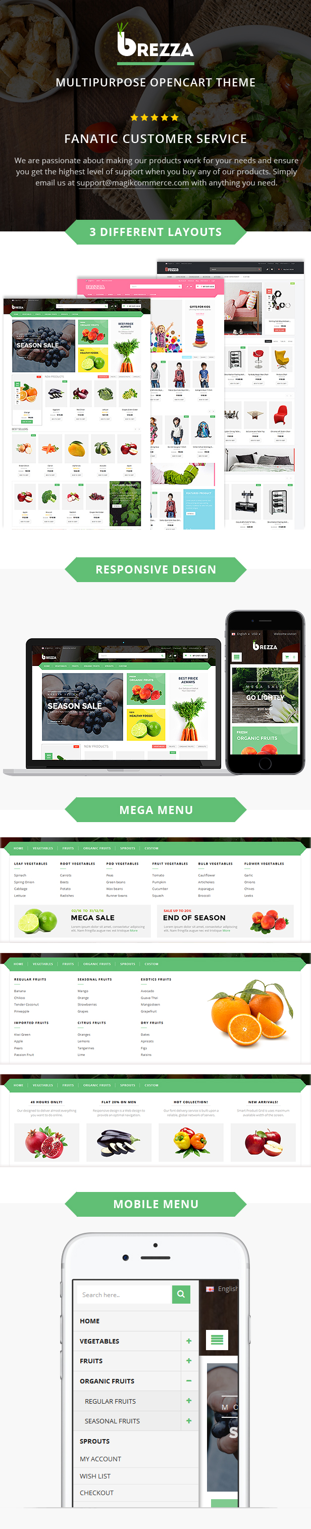 fruit store opencart theme