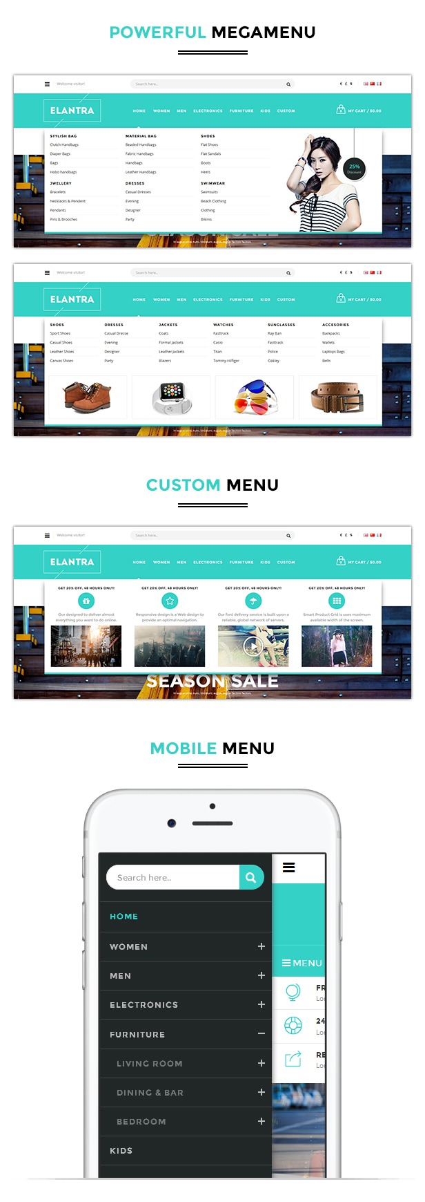 Kitchen responsive theme