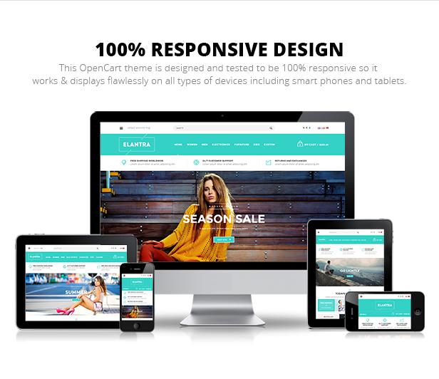 Elantra - Responsive Multipurpose OpenCart Theme