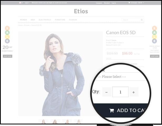 Etios - ULTIMATE Responsive OpenCart Theme