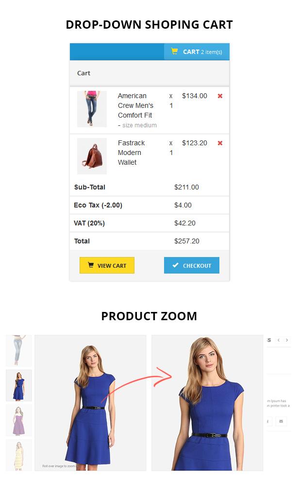 beauty store website opencart