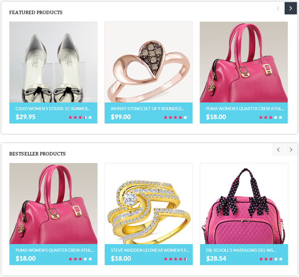 fashion store website opencart