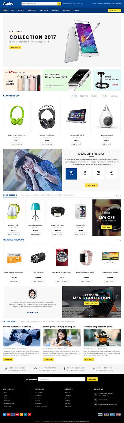 Electronic Store Shopify Theme