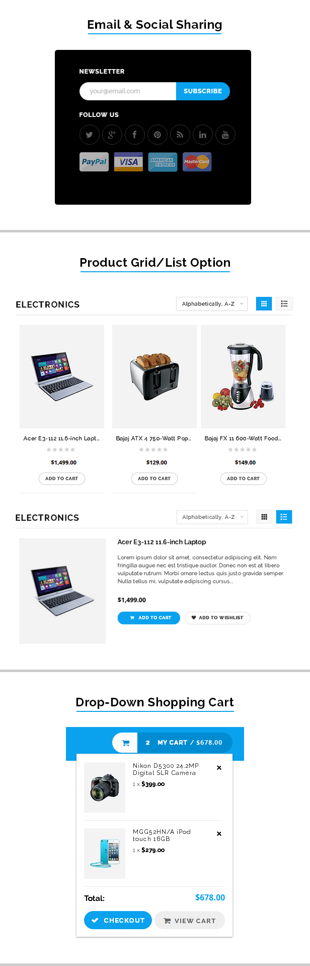 Mobile store shopify template