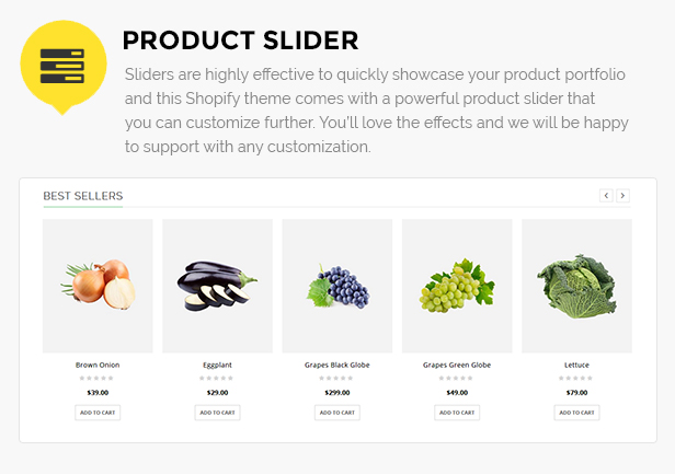 Fruits store website Shopify