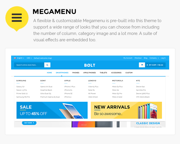 Bolt - Mobile Store Responsive Magento Theme - Themesparadise