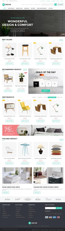 furniture store template