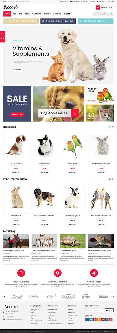 Pet Store Theme
