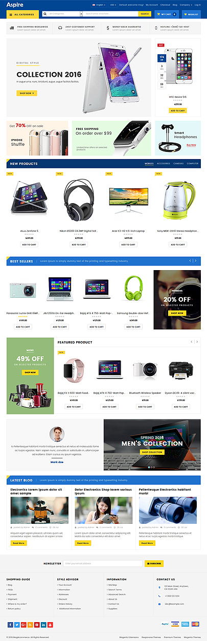 online Electronic store theme