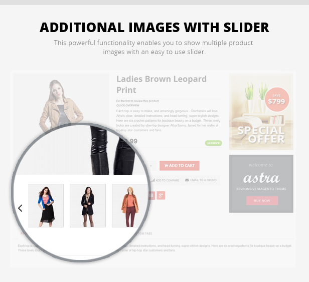 Additional Product Images with Slider