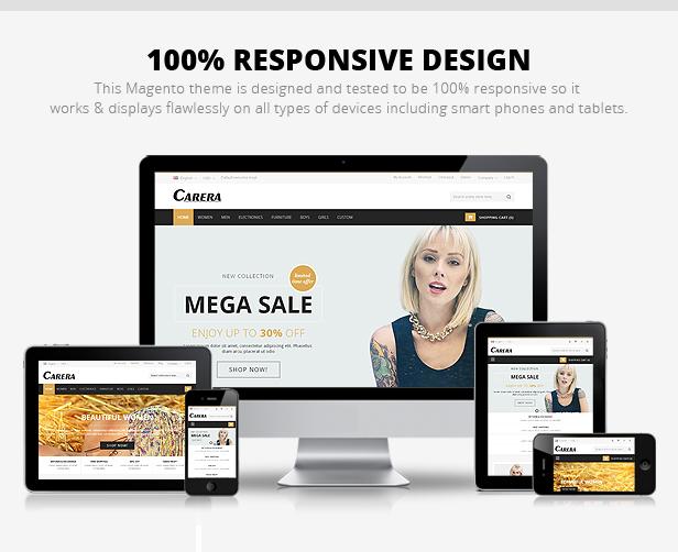 Carera - Responsive Multipurpose Magento theme