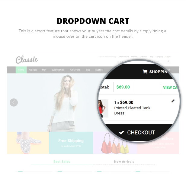 Dropdown Cart