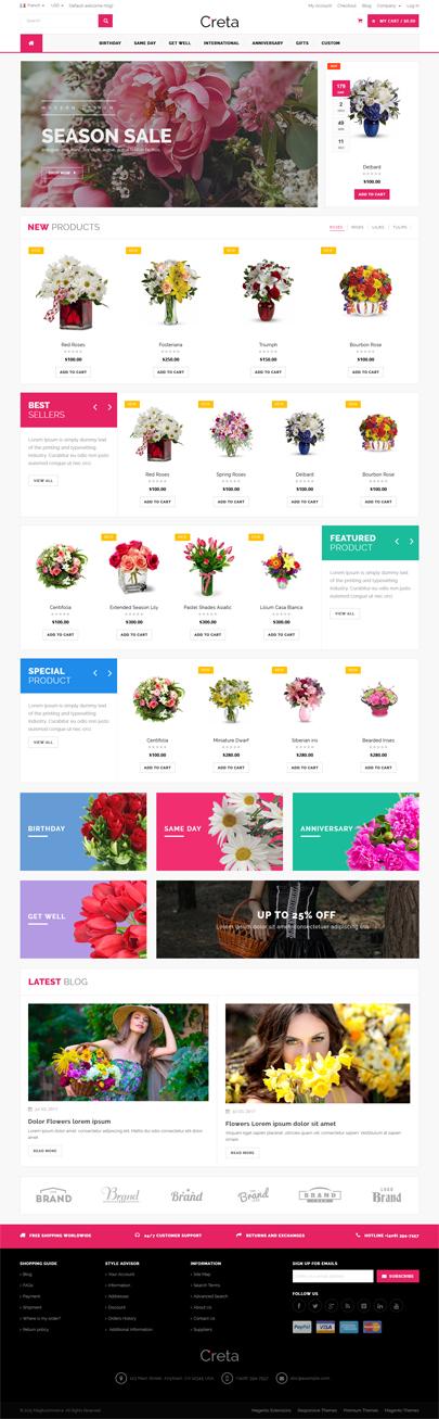 Flower Shop Magento Theme