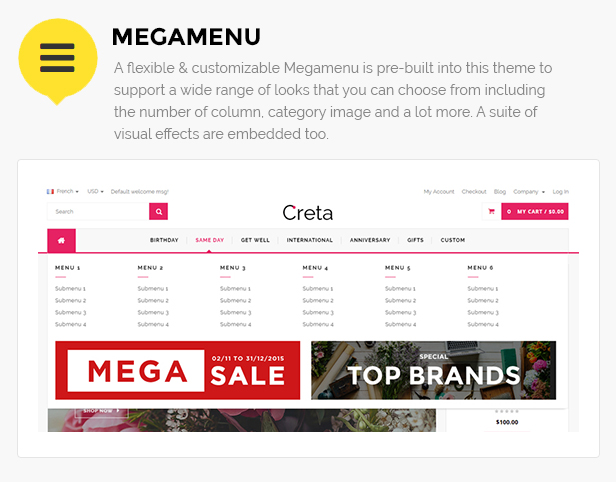 Flower store magento template