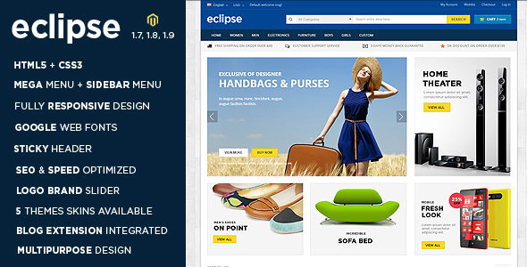 01 preview - Eclipse - Responsive Multipurpose Magento Theme