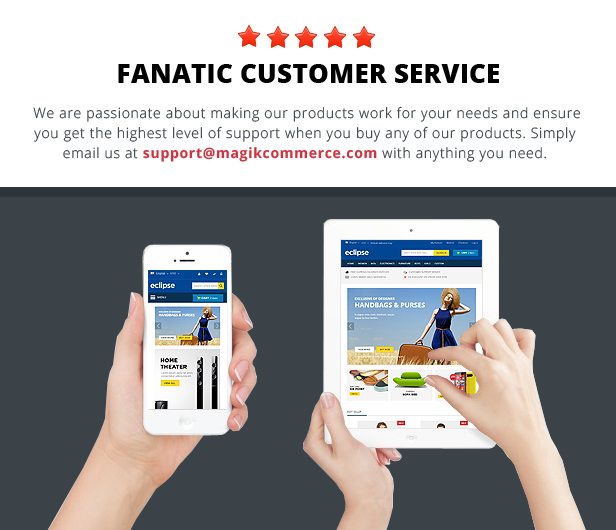 fanatic support - Eclipse - Responsive Multipurpose Magento Theme