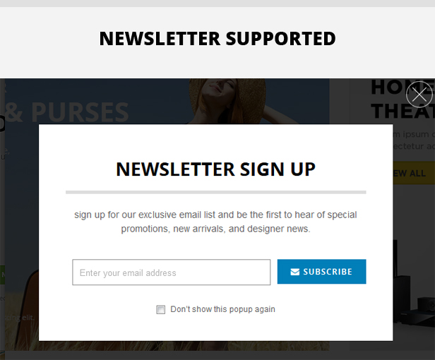 newsletter - Eclipse - Responsive Multipurpose Magento Theme