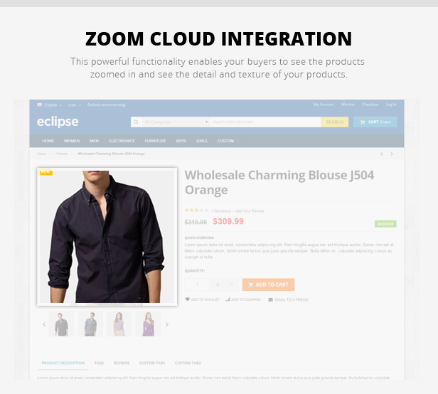 zoom cloud - Eclipse - Responsive Multipurpose Magento Theme
