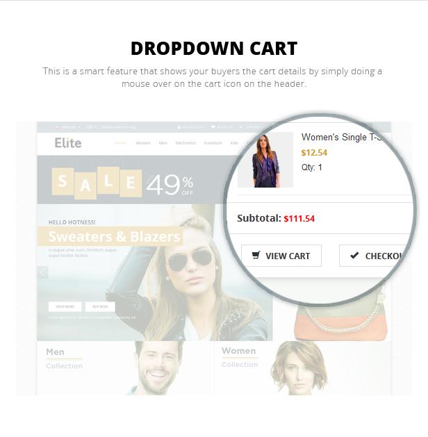 Dropdown Cart
