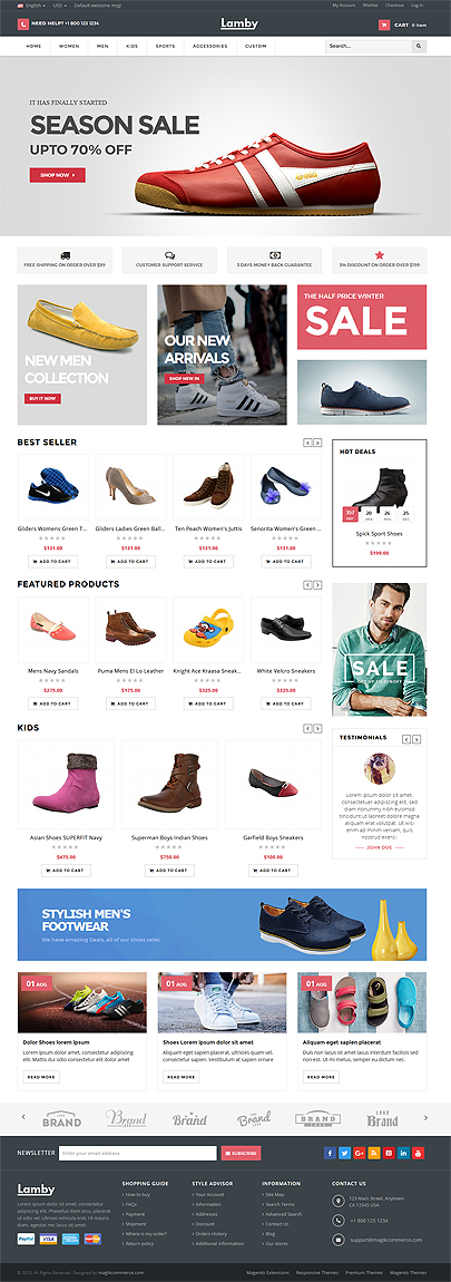 Shoes Store Theme