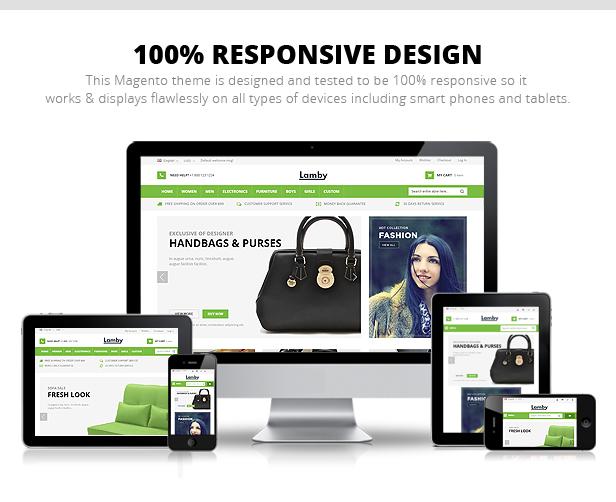 Lamby - Responsive Multipurpose Magento theme