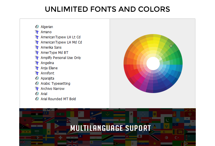 Font Colors Animation