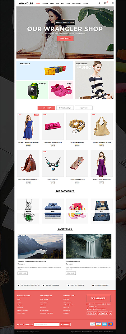 fashion store magento template