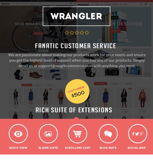 Wrangler - Advanced Responsive Magento Theme