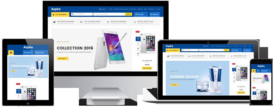 Electronic shop wordpress