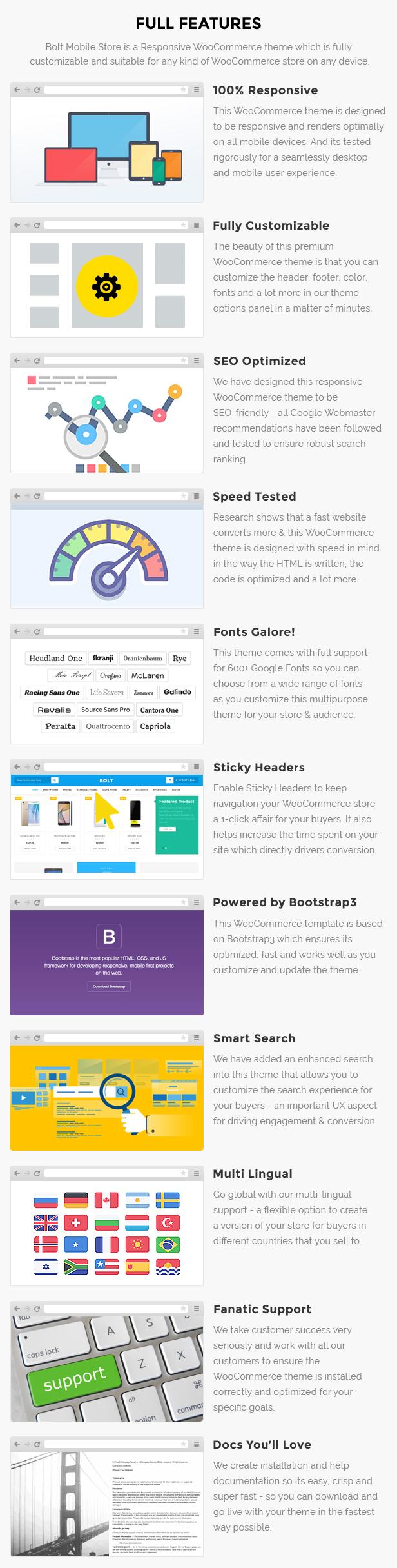 Mobile store website wordpress