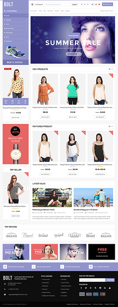 Mobile store woocommerce template