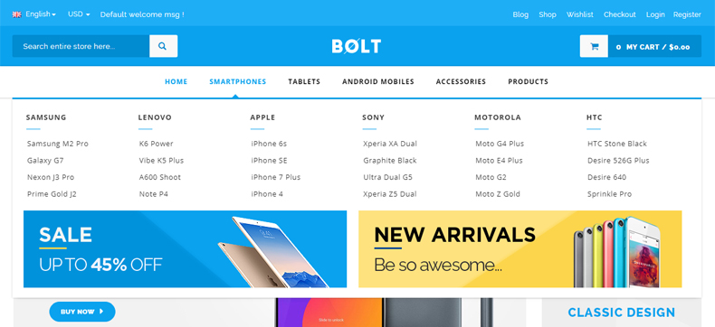 Mobile store wp theme