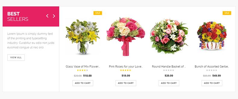 flower store wordpress theme