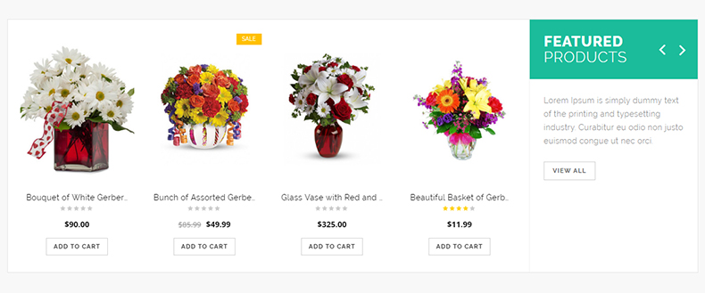 flower store wp theme