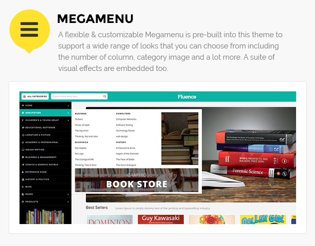 Books store template