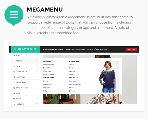 Clothing shop wordpress