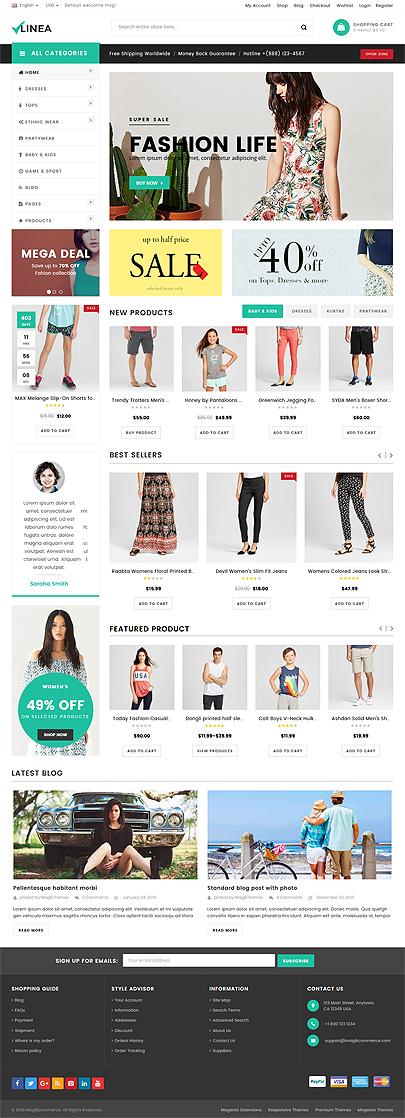 clothing responsive theme