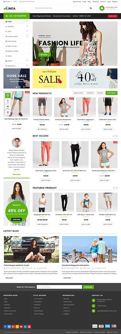 clothing shop wordpress