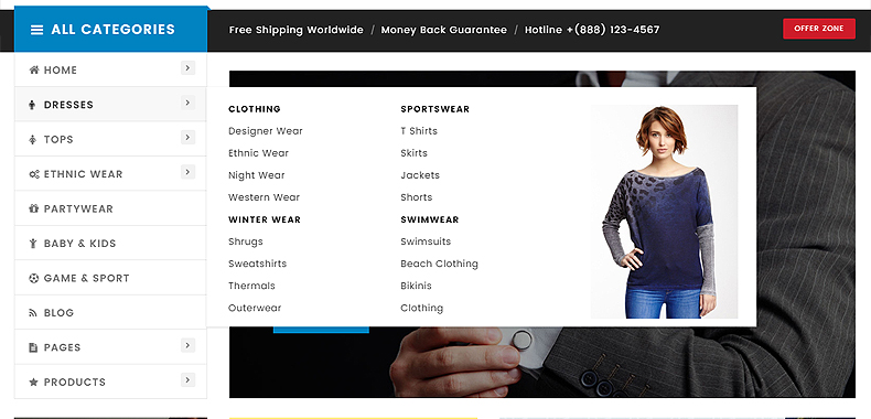 online clothing store theme