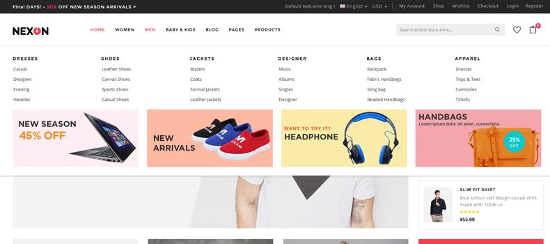 apparel store website