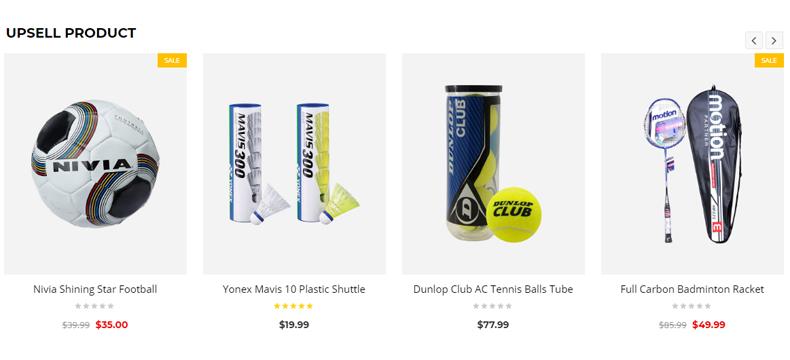Sports store website wordpress