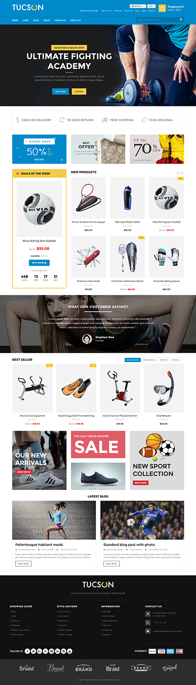 online Sports store theme