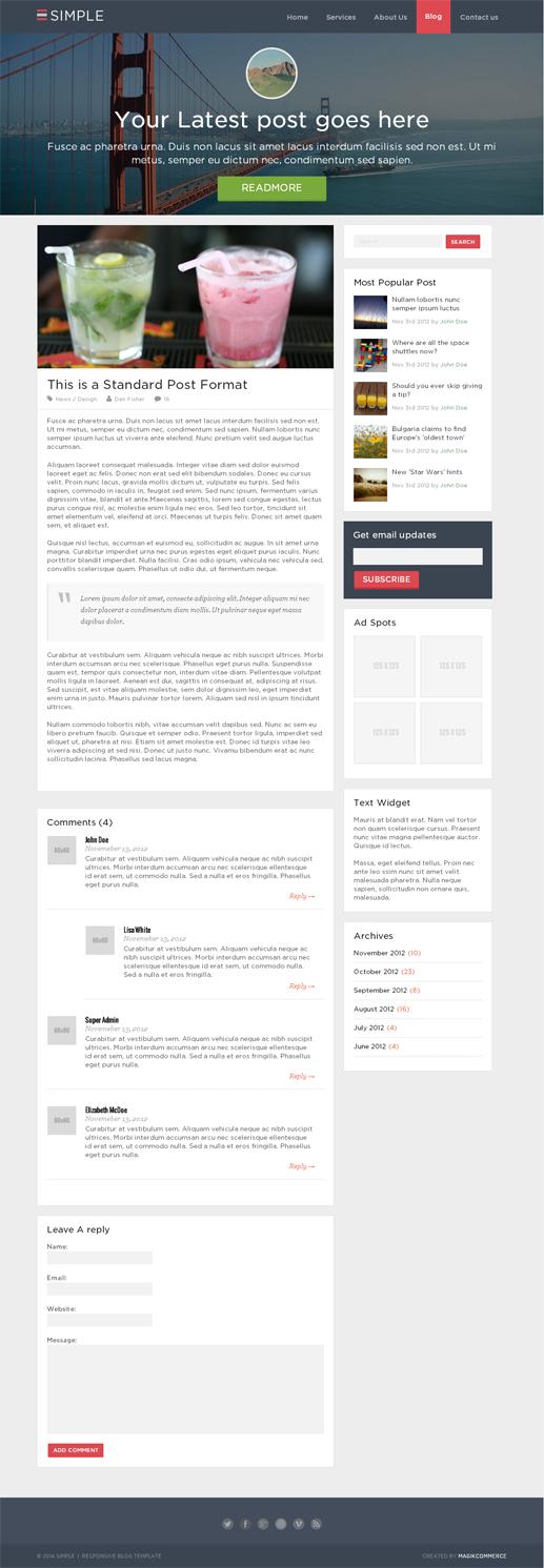 Simple - Blog Template-1821