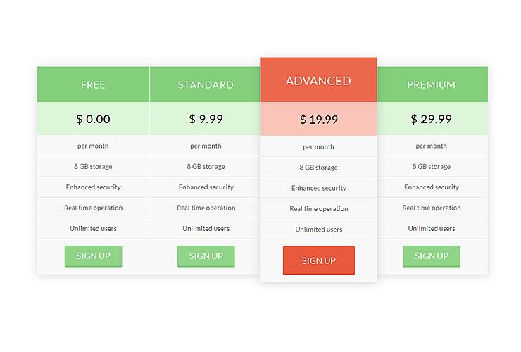 3Column Pricing Plan -0