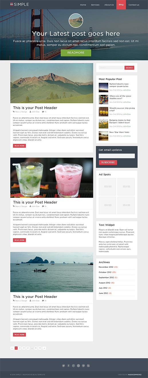 Simple - Blog Template-0