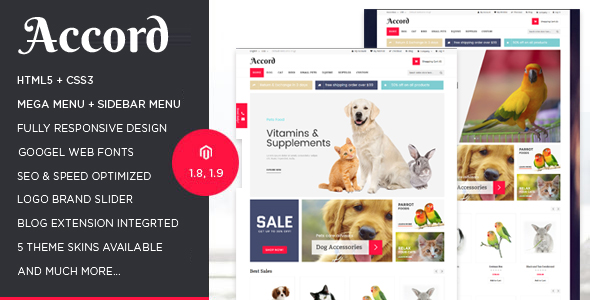 Accord - Pet Store Responsive Magento Theme-0