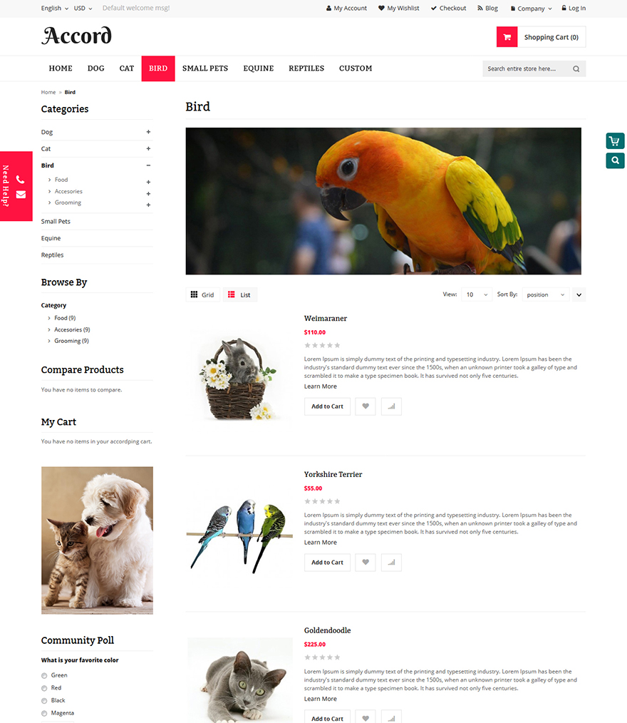 pet store template
