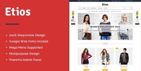 Etios Best Free OpenCart Theme - Premium & Multipurpose Store Design