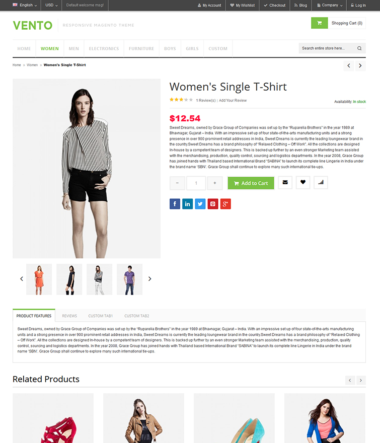 Flexible Product Detail Page